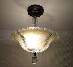 ECRU Antique CEILING LIGHT with Semi-Flush Mount by LampGoods