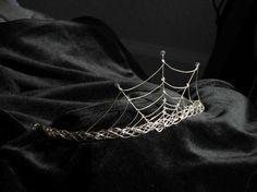 Silver Cobweb Tiara. $45.00, via Etsy.