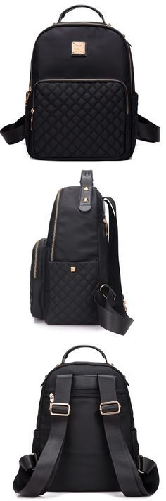Are you going on a small road trip soon? Then this backpack is a must-have! : Are you going on a small road trip soon? Then this backpack is a must-have! Backpack Purse, Black Backpack, Fashion Bags, Fashion Backpack, Fashion Purses, Trendy Fashion, Fashion Women, Fashion Jewelry, Fashion Outfits