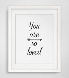 Love Arrow Print, You Are So Loved, Black & White Wall Art, Downloable Print, Modern Minimalist Tribal Home Decor, Wall Art - Multiple Sizes...