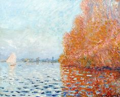 Claude Monet – 'Argenteuil Basin with a single Sailboat', 1874 Image of the painting, post conservation, June Photo © National Gallery of Ireland. Monet Paintings, Impressionist Paintings, Landscape Paintings, Renoir, Claude Monet Pinturas, Artist Monet, Art Japonais, Post Impressionism, Manet
