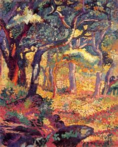 Shady for the Clearing, 1906- Henri Edmond Cross (1856-1910). Poitillism