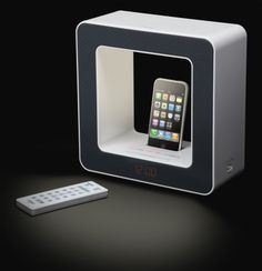 I like this Teac iPhone dock because you can put stuff on top of it.