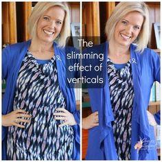 Slimming effect of verticals