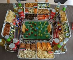 My son is getting interested in soccer. For the birthday party . - My son is getting interested in soccer. For the birthday party, I should instead of the obligatory - Diy Birthday, Birthday Gifts, Birthday Parties, Super Bowl Party, Diy Cupcake, Party Buffet, Snacks Für Party, Superbowl Party Food Ideas, Football Party Foods