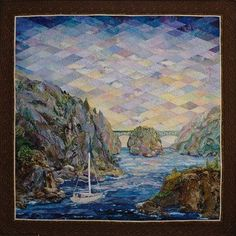 Watercolor Landscape Quilt Patterns | ... : art quilts. choosing fabrict , landscape quilts , pictorial quilts