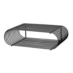 Black Steel Curva Shelf by Aytm. Shelf Furniture, Outdoor Furniture, Outdoor Decor, Wall Shelves, Storage Shelves, Shelving, Canvas Home, Decorative Objects, Shoe Rack