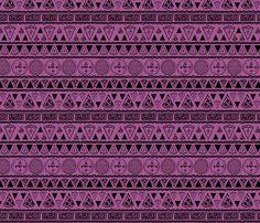 tribal berry pie fabric by tadfab on Spoonflower - custom fabric