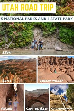 How To Plan A Trip To All 5 Utah National Parks [Map Included] Utah Road Trip to 5 National Parks and 1 State Park. Our family had an amazing time. Utah is the perfect state to do a family road trip in! Family Road Trips, Road Trip Usa, Family Travel, Usa Roadtrip, State Parks, Places To Travel, Travel Destinations, Goblin Valley, Travel