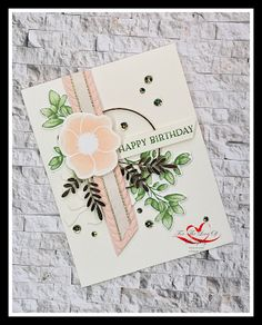 Such an amazing suite of products coming June 3, 2020. Embossing Machine, Embossing Folder, Birthday Cards, Happy Birthday, Wink Of Stella, My Stamp, Ferns, Poppies, Stampin Up