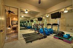 workout room adjacent to master bath