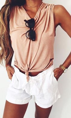 #summer #outfits / light orange