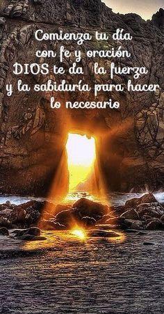 α JESUS NUESTRO SALVADOR Ω: Comienza tu día con oración y fe DIOS te da la…