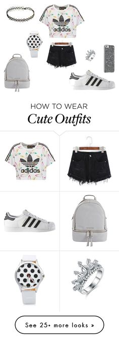 """Lujayne's outfit"" by seena-alrakawi on Polyvore featuring adidas Originals, adidas, MICHAEL Michael Kors and evillujayne"