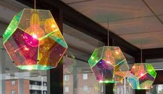 Kaleidoscopic Light Design - Escher drawings served as inspiration for this this dodecahedral lamp. The Escher lamp by Thor Høy comes in a variety of colors, and the desig. Modern Light Fixtures, Modern Lighting, Lighting Design, Modern Lamps, Industrial Lighting, Light Art, Lamp Light, Brass Lamp, Lamp Design