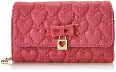 Women's Wallets - Betsey Johnson Always Be Mine On A String Wallet Pink One Size * To view further for this item, visit the image link.