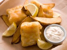 Beer Battered Fish and Chips with Spicy Tartar Sauce