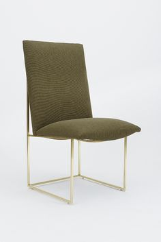 Modern Simple Chair @ Dining room w/ charcoal fabric and black base