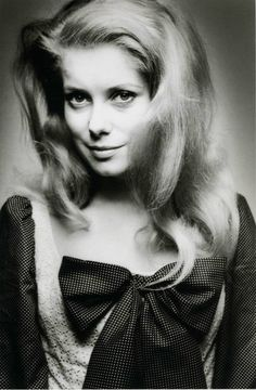 Catherine Deneuve (1943) - French actress. Photo Photo © Jeanloup Sieff, 1965