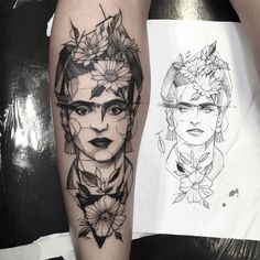 frida khalo, Tattoo by Fredão Oliveira