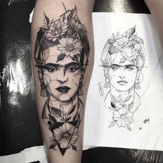 frida khalo, Tattoo by Fredão Oliveira