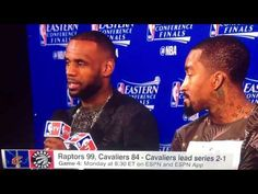 LEBRON JAMES & JR SMITH POSTGAME INTERVIEW AFTER GAME 3 CAVS LOSE TO RAP...
