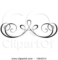 Clipart Black Swirl Rule Design Element 1 - Royalty Free Vector ...