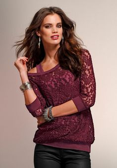 366dc0ae29202f Laura Scott Spitzenshirt Online Shop - Kaufen beim QUELLE Versand Spitze