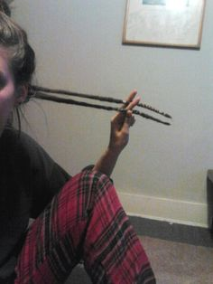 Pet dreads. One year. Wrapped dreadlock