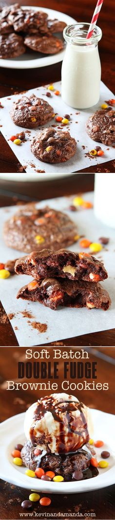 Soft Batch Peanut Butter Double Fudge Brownie Cookies