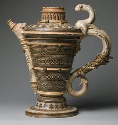 Saint-Porchaire Ewer, French earthenware, c. 1530 - 1550