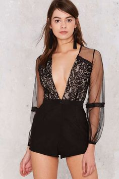 Block+it+Out+Lace+Romper+ +Shop+Clothes+at+Nasty+Gal!