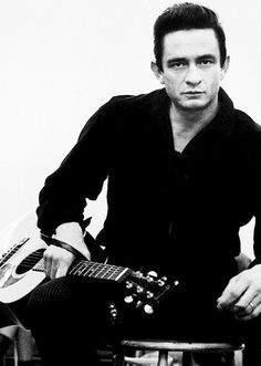 Johnny Cash - 'He's a timeless presence.  From the beginning of rock & roll, there's always been this dark figure who never really fit.  He's still the quintessential outsider.  In the hip-hop world you see all these bad-boy artists who are juggling being on MTV and running from the law.  John was the originator of that.' - Rick Rubin.