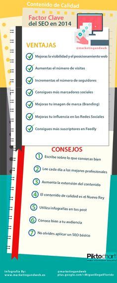 Escribir contenido de calidad es el factor clave del SEO en 2014  #SEO #CommunityManager #posicionamientoweb