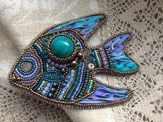 Рыбка кулон | biser.info - всё о бисере и бисерном творчестве