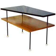 Greta Grossman Mid Century Two-Tiered Coffee Table circa 1955