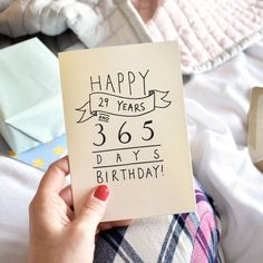 'Happy 29 Years And 365 Days' Birthday Card by Oops a doodle, the perfect gift for Explore more unique gifts in our curated marketplace. Diy 30th Birthday Card, 60th Birthday Ideas For Mom, 30th Birthday Quotes, Husband 30th Birthday, Thirty Birthday, Birthday Cards For Him, Birthday Letters, Happy 30th Birthday, Bday Cards