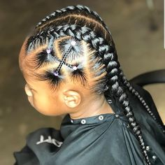 53 Box Braids Hairstyles That Rock - Hairstyles Trends Box Braids Hairstyles, Lil Girl Hairstyles, Black Kids Hairstyles, Kids Braided Hairstyles, Easy Hairstyles For Long Hair, African Hairstyles, Cornrow Hairstyles Natural Hair, Hairstyle Ideas, Simple Natural Hairstyles