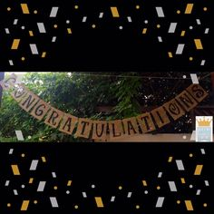 Congratulations Burlap **ON SALE for Graduation Parties! by QueensBanners