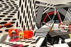 Cafeteria by Tobias Rehberger. Custom Furniture, Home Furniture, Tobias Rehberger, Interior Architecture, Interior And Exterior, Wall Paint Patterns, Interior Decorating, Interior Design, Ceiling Design
