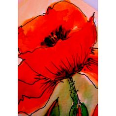 Beautiful red poppy greeting card in bold attractive colors.  Buy it for someone special.