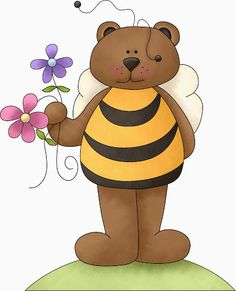 Image result for teddy bear and bees clipart
