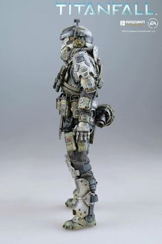 """Take a look at all the details, paint application and weathering on fully articulated Titanfalll: Atlas 6"""" (15.2 cm) tall pilot. This pilot will be coming together with 20.5"""" (52 cm) tall Titanfall: Atlas, which we showed earlier this year, we plan to open the pre-order soon, please keep an eye on our Facebook page: www.facebook.com/threezeroHK for updates!  #threezero #Titanfall #gaming #videogame #collectible #toyphotography #actionfigure #toyplanet #comingsoon #WIP #Titan"""