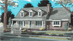 Houseplans MILLHOME -- 1 1/2 Story, Traditional House Plan details Houseplans