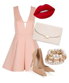 """""""Girly girl"""" by alessandra-georgia on Polyvore featuring Lipsy, Lime Crime and Mansur Gavriel"""
