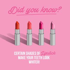 JULY 29 IS LIPSTICK DAY, but what does that have to do with teeth? Well, the right shade of lipstick will actually make your teeth appear whiter! (Just don't use that as an excuse to slack on brushing.) #parkridgedentist