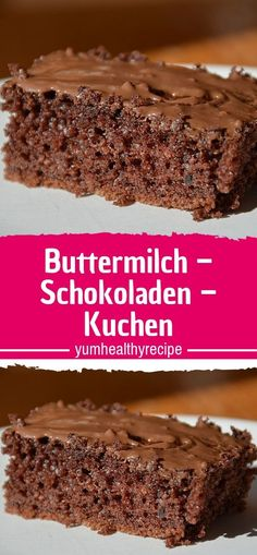 Buttermilk - chocolate cake - Ingredients 3 egg (s) 250 g margarine 3 cup / s sugar 4 cup / s flour 2 cup / s buttermilk 1 cup co - Heart Healthy Desserts, Fall Desserts, Healthy Dessert Recipes, Cake Recipes, Snack Recipes, Buttermilk Chocolate Cake, Cake Chocolate, Easy Smoothie Recipes, Coconut Recipes