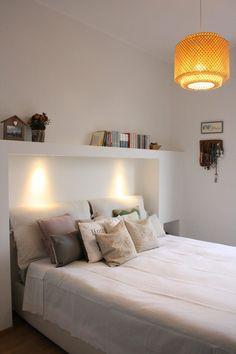 la camera da letto- nicchie in cartongesso con luci led   Interni ...