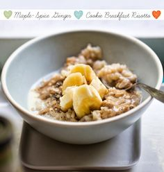 Maple-Spice Ginger Cookie Breakfast Risotto. Easy as oatmeal!