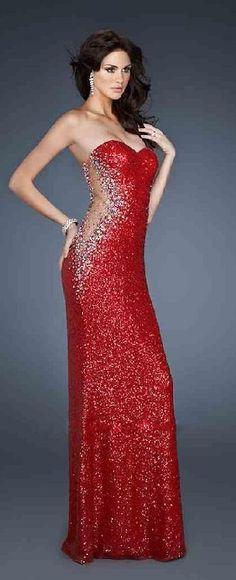 Fashion A-Line Red Long Natural Sweetheart Prom Dress lkxdresses54874bui #longdress #promdress